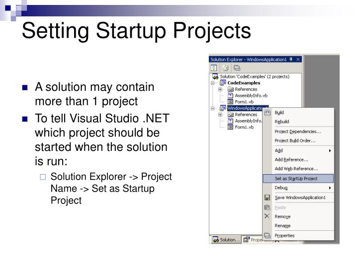 Setting Startup Projects