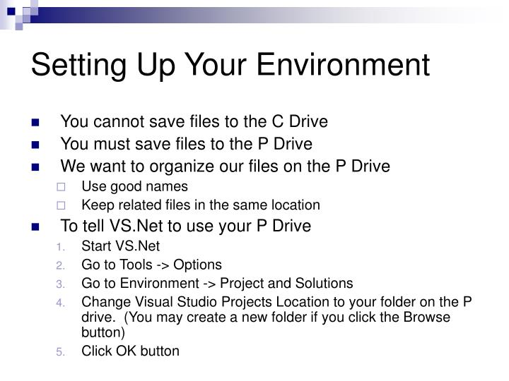 Setting Up Your Environment