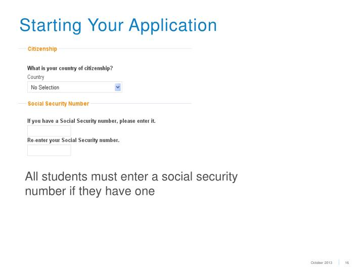 Starting Your Application