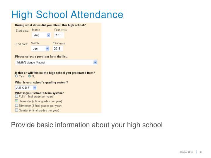 High School Attendance