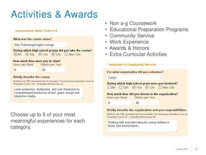 Activities & Awards