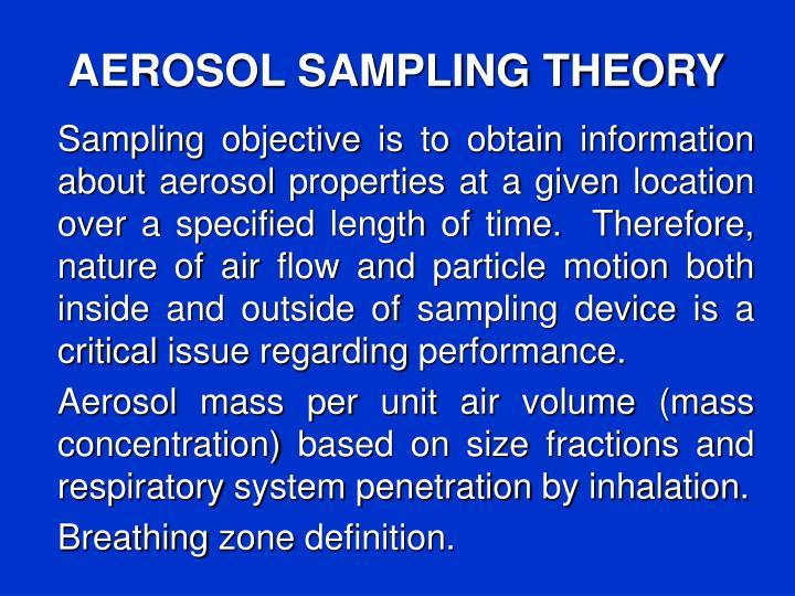 AEROSOL SAMPLING THEORY