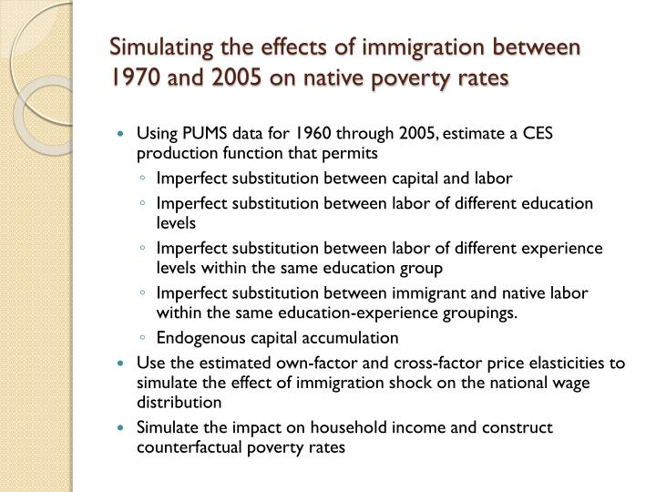 the effect of immigration on the Immigrants have enriched american culture and enhanced our influence in the world by daniel griswold this article appeared in insight on february 18, 2002 immigration always has been controversial in the united states.