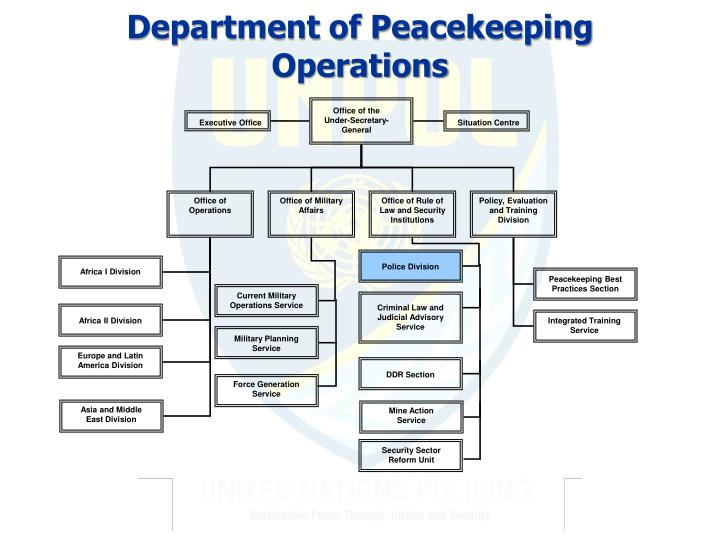 Department of Peacekeeping Operations
