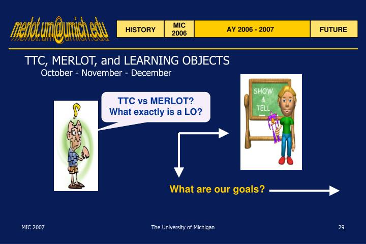 TTC, MERLOT, and LEARNING OBJECTS