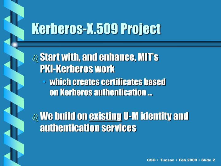 Kerberos-X.509 Project