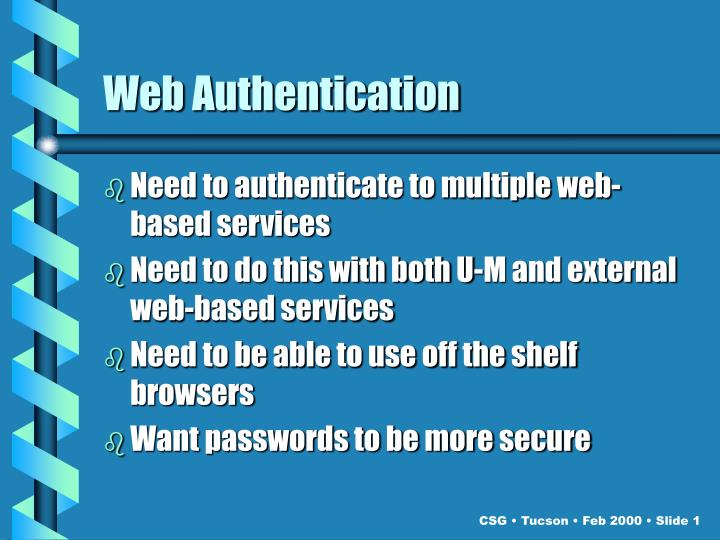 Web Authentication