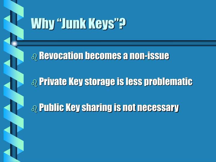 """Why """"Junk Keys""""?"""
