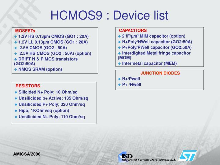 HCMOS9 :