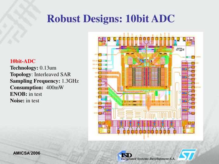 Robust Designs: 10bit ADC