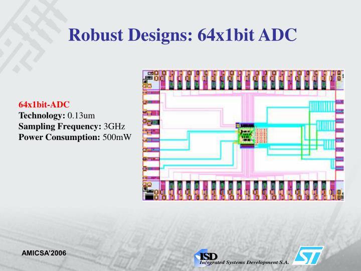 Robust Designs: 64x1bit ADC