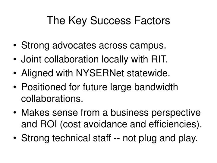 The Key Success Factors
