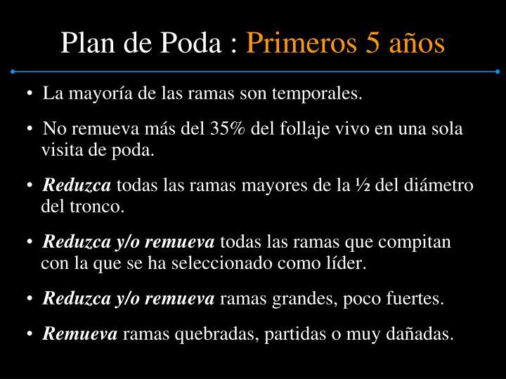 Plan de Poda :