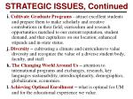 strategic issues continued1