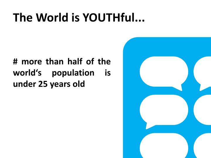 The World is YOUTHful...