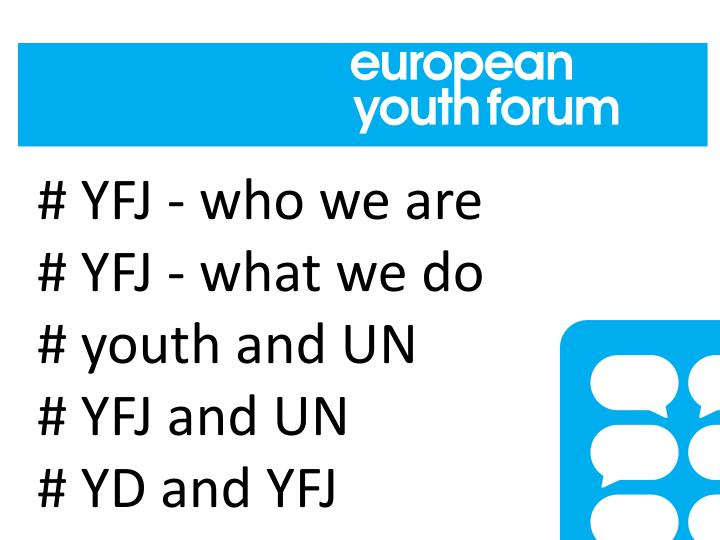 # YFJ - who we are