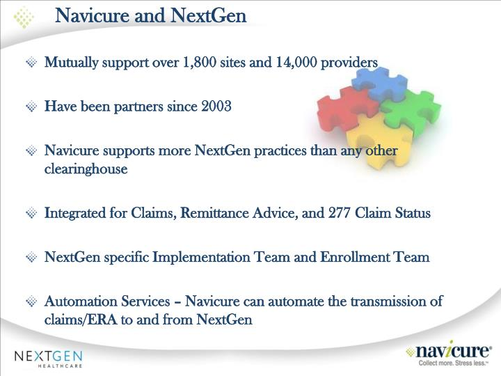 Navicure and nextgen