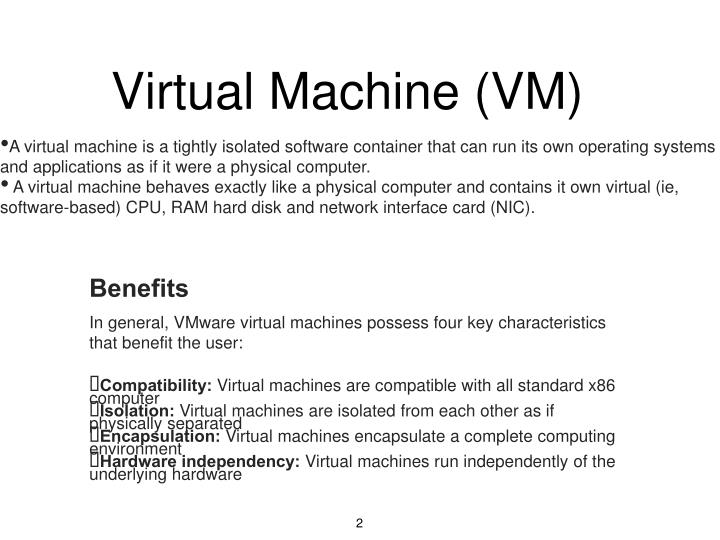 Virtual machine vm