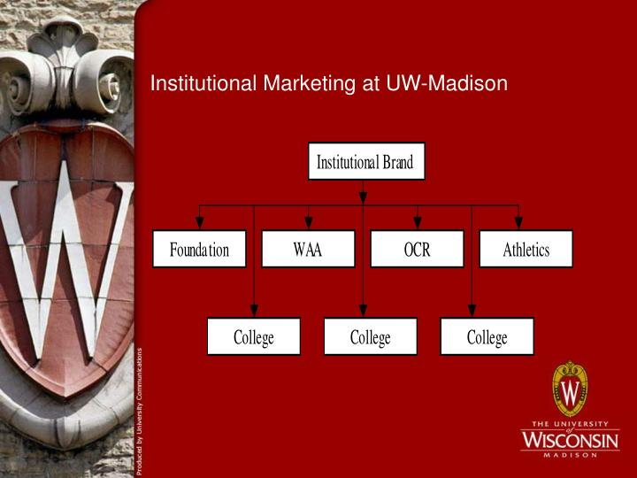 Institutional marketing at uw madison