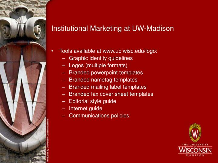Institutional Marketing at UW-Madison