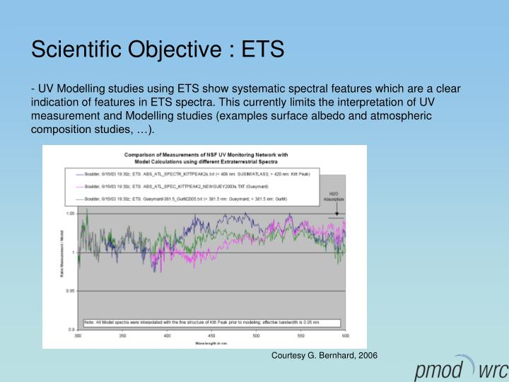 Scientific objective ets