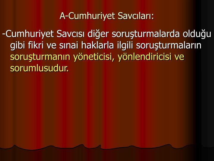 A-Cumhuriyet Savclar: