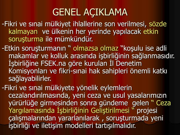 GENEL AIKLAMA
