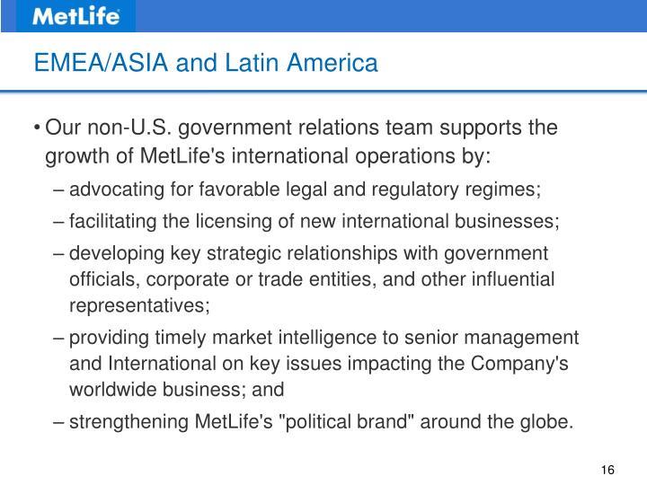 EMEA/ASIA and Latin America