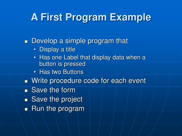A First Program Example