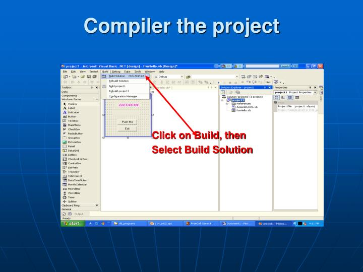 Compiler the project