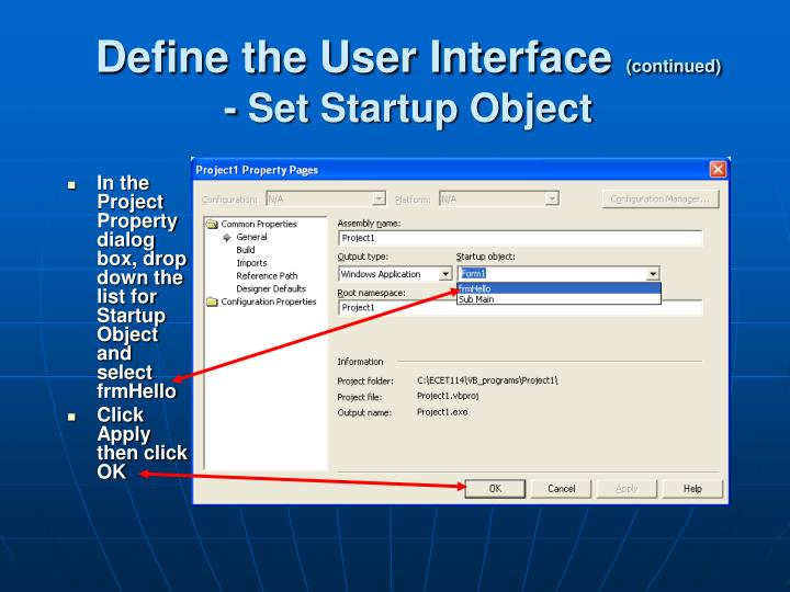 Define the User Interface