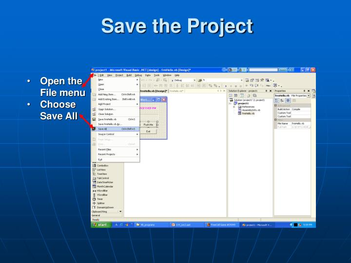 Save the Project