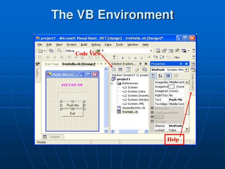 The VB Environment