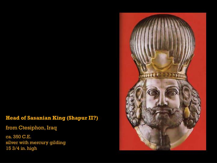 Head of Sasanian King (Shapur II?)