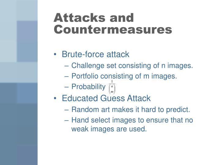 Attacks and Countermeasures