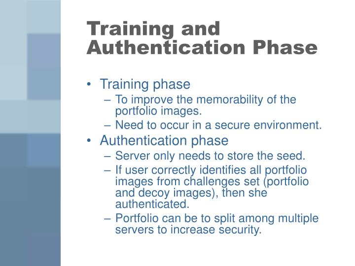Training and Authentication Phase