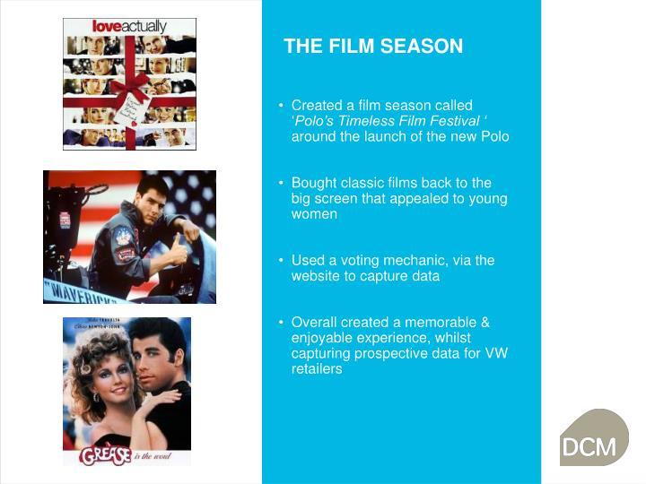 THE FILM SEASON