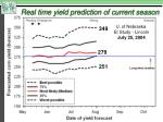 real time yield prediction of current season