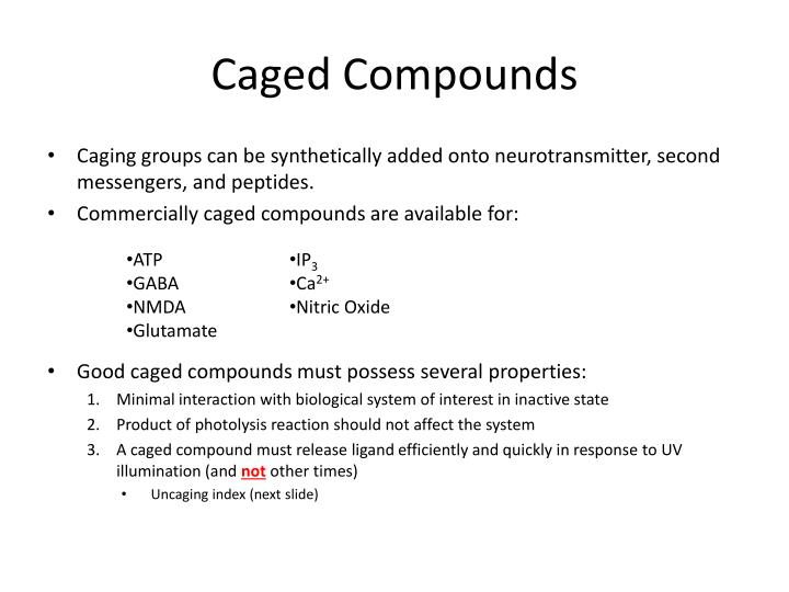Caged compounds