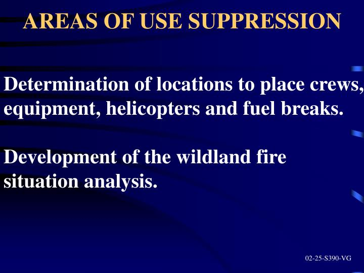 AREAS OF USE SUPPRESSION