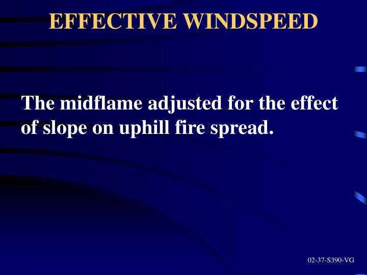 EFFECTIVE WINDSPEED