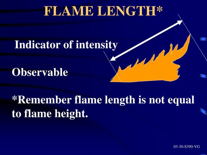 FLAME LENGTH*