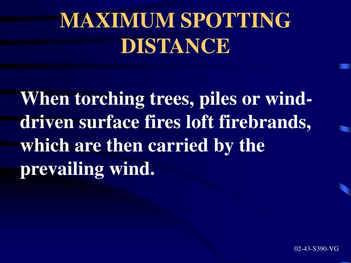 MAXIMUM SPOTTING DISTANCE