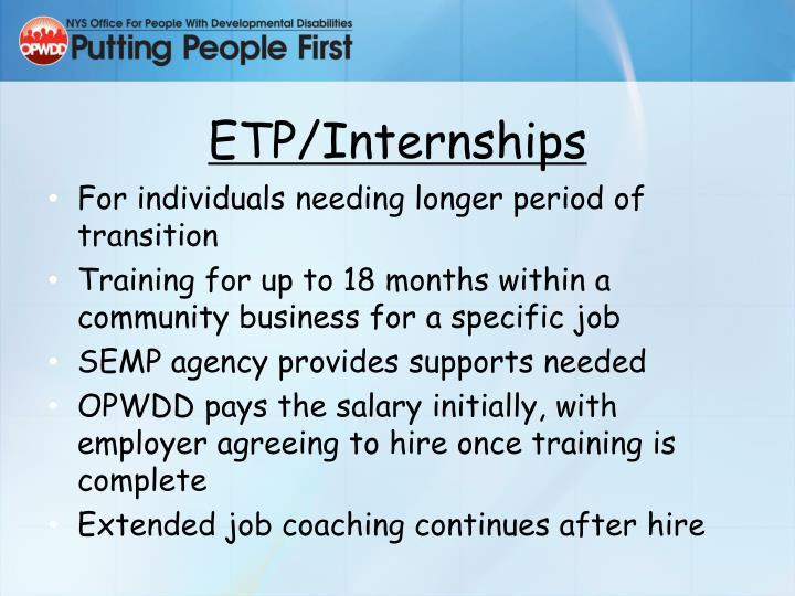 ETP/Internships