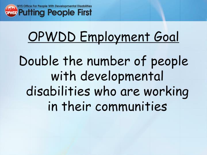 OPWDD Employment Goal