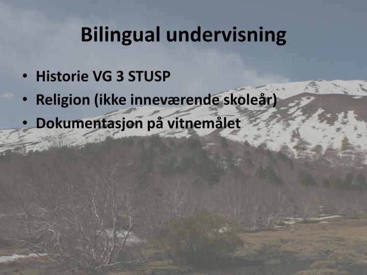 Bilingual undervisning