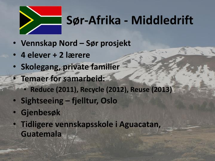 Sør-Afrika - Middledrift