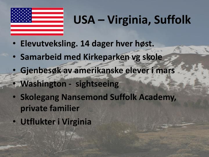 USA – Virginia, Suffolk