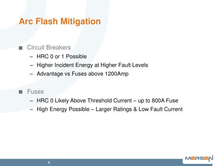 Arc Flash Mitigation