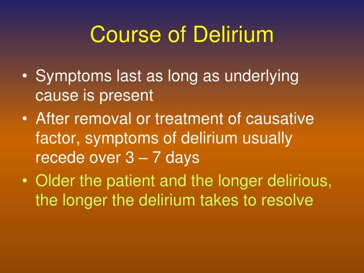 Course of Delirium